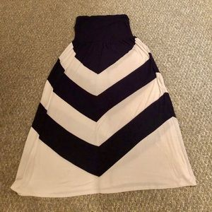 Dresses & Skirts - Navy and white strapless maxi